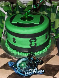 green lantern cake by Confectionatly Yours! custom cakes