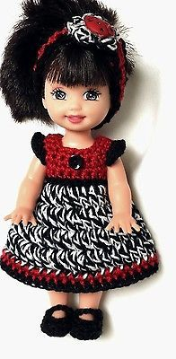 Kelly Doll Clothes Crochet Ladybug Dress Shoes Panties Headband Handmade New | eBay