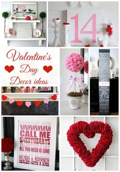 Valentine's Day Decor Ideas - great ideas for decorating for Valentine's Day!! www.classyclutter.net