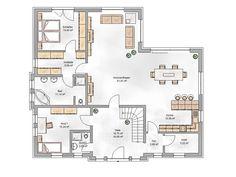 (www.roetzerziegelhaus.de) Messy Wedding Hair, Planer, Floor Plans, How To Plan, Interior, House, Bungalows, Blog, Home
