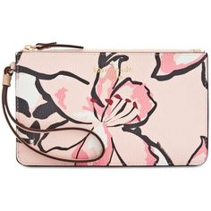 kate spade new york Tiger Lily Slim Bee Wristlet (81 BAM) ❤ liked on Polyvore featuring bags, handbags, clutches, purses, accessories, antilles bubbles, travel hand bags, purse wristlet, kate spade handbag and wristlet purse