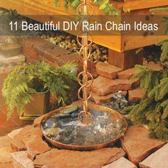 11 Beautiful DIY Rain Chain Ideas...http://homestead-and-survival.com/11-beautiful-diy-rain-chain-ideas/