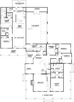 Tour the Lewis Spring Country Home that has 6 bedrooms and 4 full baths from House Plans and More. See highlights for Plan Rustic House Plans, Country House Plans, 5 Bed House, Three Season Room, Covered Front Porches, Architect Drawing, Guest Room Office, House Plans And More, Construction Cost