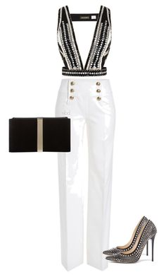 Untitled #318 by deborahkallu on Polyvore featuring polyvore fashion style sass & bide Emilio Pucci Jimmy Choo Roger Vivier