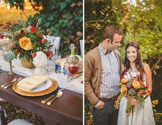 fall wedding inspiration // bohemian wedding
