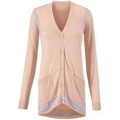 Lucy Cardigan cabi ($119) ❤ liked on Polyvore featuring tops, cardigans, pink cardigan, pink top, cabi, cabi cardigan and cardigan top