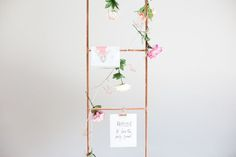 DIY Copper Pipe Magazine Ladder