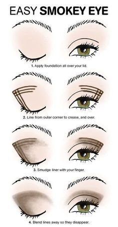 Look better immediately: You should know these makeup tips .- Sofort besser aussehen: Diese Make-up-Tipps solltet ihr kennen! With this trick, smokey eyes are no longer a problem even for beginners! Smokey Eye Makeup Tutorial, Eye Makeup Steps, Eyeliner Tutorial, Easy Eye Makeup, Eye Shadow Tutorial, Beauty Make-up, Beauty Makeup Tips, Beauty Hacks, Makeup Tutorial For Beginners