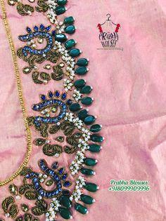 Best Blouse Designs, Silk Saree Blouse Designs, Bridal Blouse Designs, Silk Sarees, Maggam Work Designs, Kurta Neck Design, Embroidery Designs, Blouses, Rings