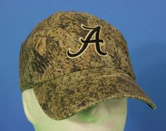 Camo Alabama Baseball Cap Hat Adjustable Crimson Tide Green One Size College #CaptivatingHeadwear #Strapback