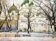 The+cathederal+in+Rostov+The+Great+-+Konstantin+Yuon