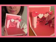 DIY-Envelope Paper heart card Gift    Make for Boyfriend/Girlfriend - YouTube