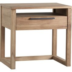 Linea 1-Drawer Nightstand in Nightstands | Crate and Barrel $499