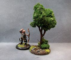 A very innovative idea - Easy trees. Bulk of foliage is made with expanding gap filler (spray foam?