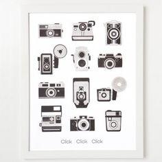letterpress camera art print | eva jorgensen