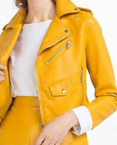 Image 3 of FAUX LEATHER JACKET from Zara