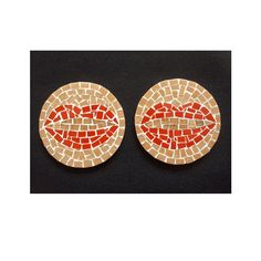 Beautiful handmade lip mosaic coasters- only $25 and perfect for the holiday season