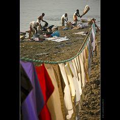 ganges laundry, varanasi, india by gavin.burnett, via Flickr