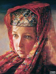 Yan YaYa (燕娅娅) was born in 1964 to the ethnic Man Group in Shaanxi (China)