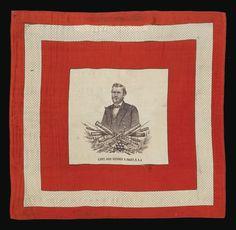 """Lieut. Gen'l. Ulysses S. Grant"" Silk Campaign Bandana"