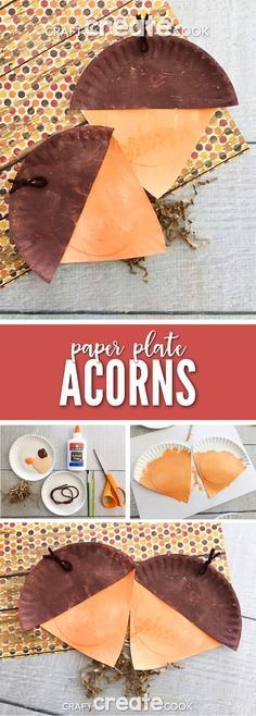 This Paper Plate Acorn Craft for Kids is the perfect project to make during a chilly Fall day. via @CraftCreatCook1