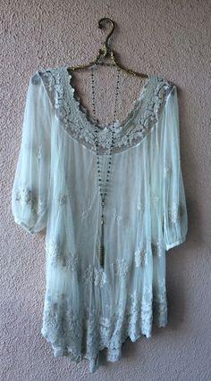 Image of Bohemian Gypsy lace tunic