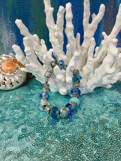 925s Murano beaded bracelet by Frankgilldesign on Etsy