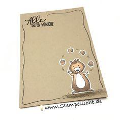 Glückwunschkarten auf Savanne mit Doodle Rand und We Must Celebrate von Stampin´Up!