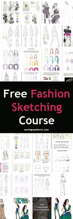31 ideas fashion design sketches tutorial for 2019 Fashion Design Books, Fashion Design Drawings, Fashion Sketches, Drawing Fashion, Fashion Designers, Art Sketches, Fashion Illustration Tutorial, Fashion Illustration Dresses, Beginner Sewing Patterns