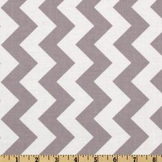 Riley Blake Chevron Medium Grey from @fabricdotcom  Designed by RBD Designers for Riley Blake Designs, this cotton print fabric is perfect for crafts, quilting, apparel and home décor accents. The chevron stripe is vertical to the selvedge. Colors include grey and white.