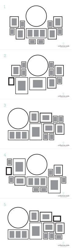 Lovely Layout for my gallery wall, I started with a large round clock. by The post Layout for my gallery wall, I started with a large round clock. Photowall Ideas, Inspiration Wand, Bedroom Inspiration, Kitchen Inspiration, Mirror Inspiration, Style Inspiration, Creative Inspiration, Painting Inspiration, Gallery Wall Layout