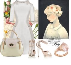 """And Then There Was White"" by latoyacl ❤ liked on Polyvore"