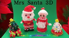 DIY tutorial for how to make Rainbow Loom Santa Claus Charm/Holiday/Christmas/Ornament - How to Loom Bands Tutorial Copyright by Elegant Fashion 360 Rainbow Loom Tutorials, Rainbow Loom Patterns, Rainbow Loom Creations, Rainbow Loom Bands, Rainbow Loom Charms, Rainbow Loom Bracelets, Rainbow Loom Christmas, Loom Bands Tutorial, Diy Tutorial