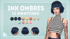Lana CC Finds — salmoonn: Ink Ombres •Mesh required-> HERE •12...