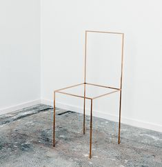 KAGADATO selection. The best in the world. Industrial design. ************************************** ron gilad, gold chair, 2012