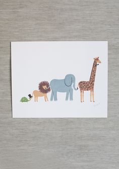 animal parade print by Rifle Paper Co