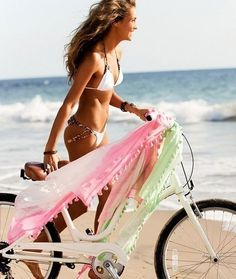 Summer Vibes :: Beach :: Bicycle :: Friends :: Adventure :: Sun :: Salty Fun :: Blue Water :: Paradise :: Bikinis :: Boho Style :: Fashion + Outfits :: Free your Wild + see more Untamed Summertime Inspiration Summer Dream, Summer Sun, Summer Of Love, Summer Beach, Summer Vibes, Summer Colors, Pink Summer, Hello Summer, Summer Paradise