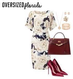"""""""Oversized Florals"""" by rachettal on Polyvore featuring Phase Eight, Miu Miu, Hermès, Astley Clarke, Forever 21, Oscar de la Renta and Kenneth Jay Lane"""