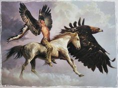 The vision art native american horse eagle HD Wallpaper Native American Horses, Native American Photos, American Indian Art, Vision Art, Duck Art, Samana, Realism Art, Western Art, Limited Edition Prints