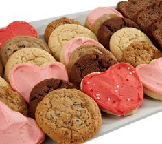 Cheryls Valentines Day Cookie and Cake Slice Sampler Valentines Day Cookies, Fancy Desserts, Cookie Exchange, Cake Cookies, Scones, Are You The One, David Venable, Deserts, Muffin