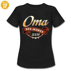 Oma Des Jahres Jahrgang 2008 RAHMENLOS Geschenk Frauen T-Shirt von Spreadshirt®, XXL, Schwarz - Shirts zum 30 geburtstag (*Partner-Link)