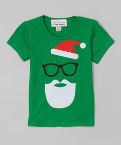 Another great find on #zulily! Green Santa Tee - Infant, Toddler & Boys by The Princess and the Prince #zulilyfinds