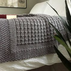 c1ebc1a56d1 KNITTING PATTERN   Over the Rooftops Blanket   Throw   Afghan   Knit   Gift    Wedding   Baby   Quick   Easy   PDF Instant Download
