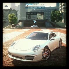 Driving a Porsche 911 Carrera S in 'Need for Speed: Most Wanted' on PlayStation 3 @ home #playstation #needforspeed #mostwanted #porsche