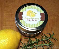 Lemon-Rosemary Sugar Scrub by FabulousFarmGirl. So simple and so inexpensive. Love it!
