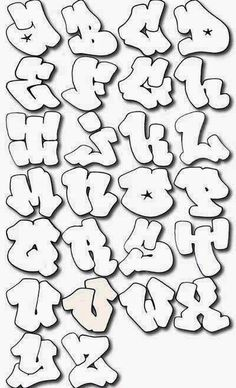"The best Mural Graffiti Art: Sketch Graffiti Alphabet ""Harfleri"" on Bubble Letters A - Z Graffiti Lettering Alphabet, Graffiti Alphabet Styles, Graffiti Writing, Graffiti Characters, Graffiti Styles, Hand Lettering, Alphabet Letters, Grafitti Letters, Calligraphy Alphabet"