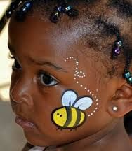 easy bee face paint