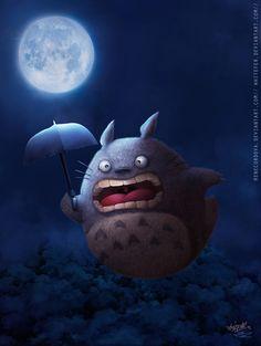 ✯ Fyld Totoro -::- By ~Renecordova ✯ Creative Illustration, Graphic Design Illustration, Illustration Art, Cute Monsters, My Neighbor Totoro, Character Design Animation, Dream Art, Hayao Miyazaki, Disney Art