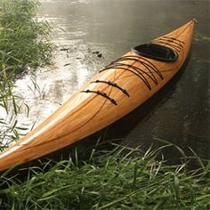 The Cedar Strip Wood Kayak from Justin Charles. Made in the USA