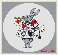 Cross Stitch Pattern Alice in Wonderland Rabbit Silhouette with a trumpet suit cards designed by me, so you have a unique opportunity to get an exclusive product. Colors – 6 Fabric: 14 count White Aida Stitches: 131 x 170 Size: 9.36 x 12.14 inches or 23.77 x 30.84 cm Colours: DMC Fabric: 16 count White Aida Stitches: 131 x 170 Size: 8.19 x 10.63 inches or 20.80 x 26.99 cm Colours: DMC Fabric: 18 count White Aida Stitches: 131 x 170 Size: 7.28 x 9.44 inches or 18.49 x 23.99 cm Colours: DMC…